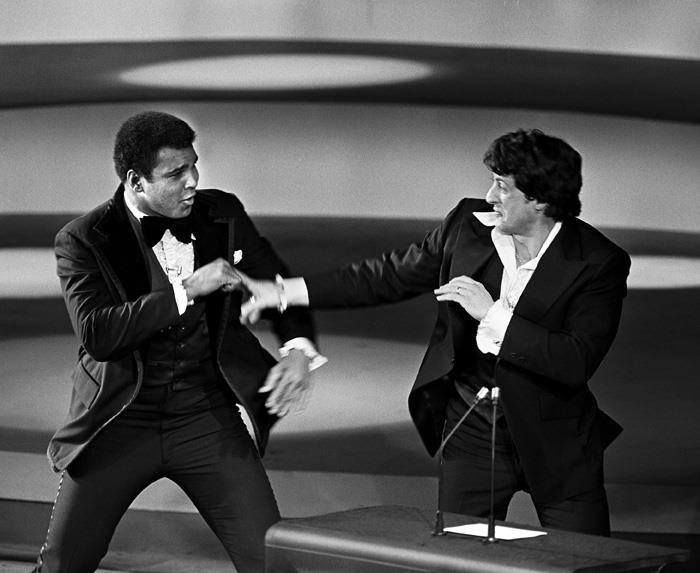 Muhammad Ali e Sylvester Stallone Oscar 1976 Video YouTube