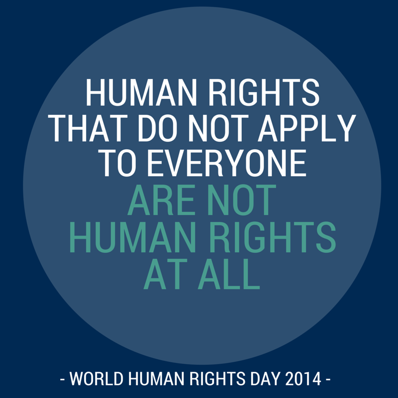 """""""Human rights that do not apply to everyone are not human rights at all"""" - Volker Beck #HumanRightsDay http://t.co/RhjosVFmgX"""