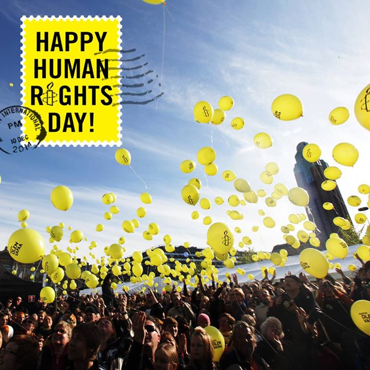 RT @amnesty: Happy #HumanRightsDay! Raise your voice today to ensure #HumanRights for all.  http://t.co/4ovzSOATEm http://t.co/3CGm6nSSC2