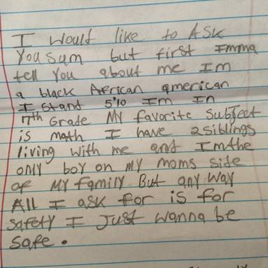 Every year, my friend Michelle does a Letters to Santa drive. This is a real letter from a kid in Englewood, Chicago: http://t.co/66GNaEQx5J