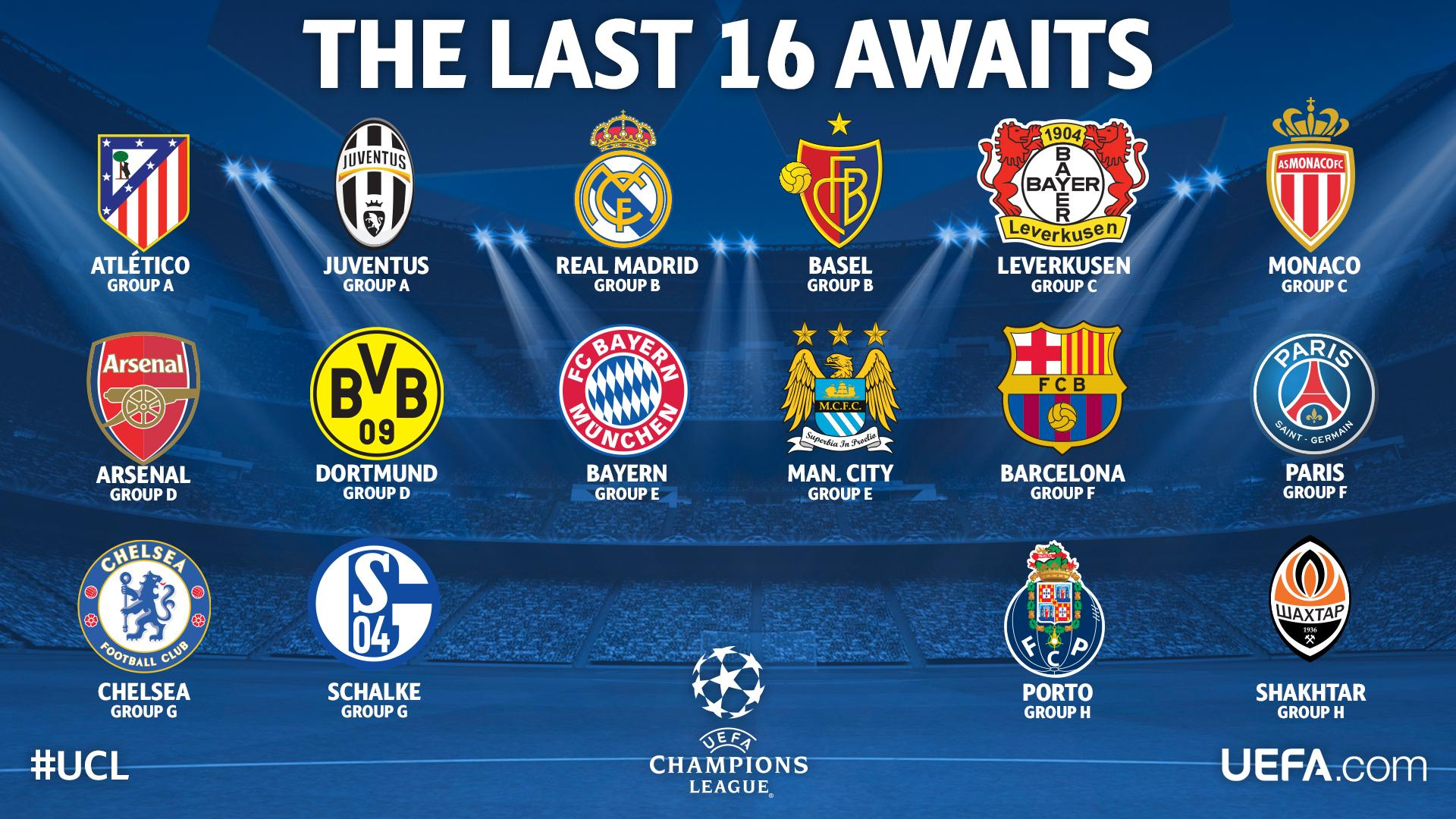 Uefa champions league round of 16 draw ign boards