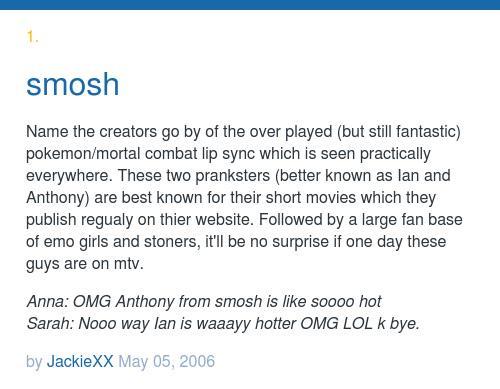 Names smosh girls Urban Dictionary: