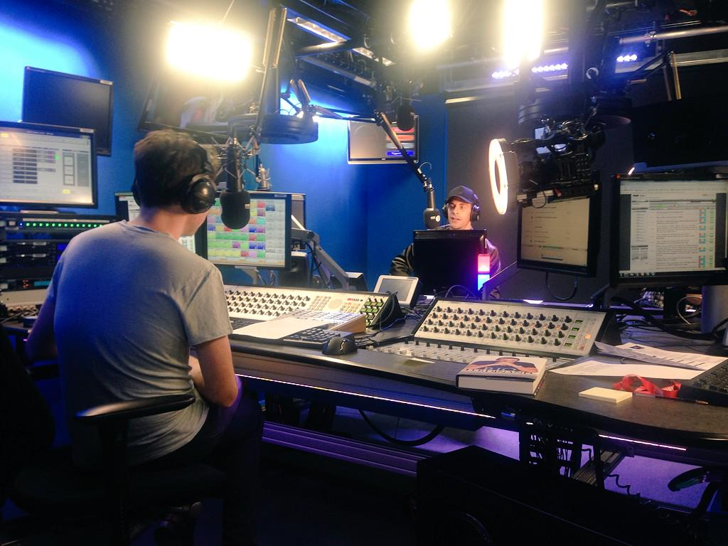 Funny morning on @BBCR1 with @grimmers #2sides #radio1 http://t.co/TvfGDPTDIu