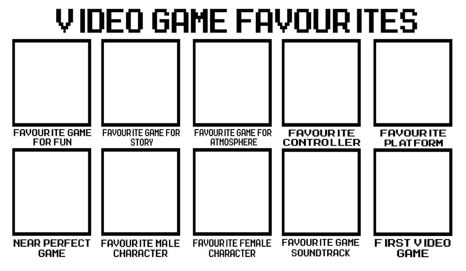 video game template