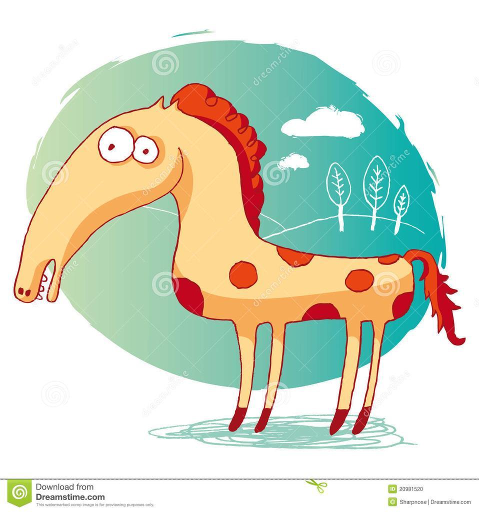 Рисунок смешных лошадок, вечер ольга открытки