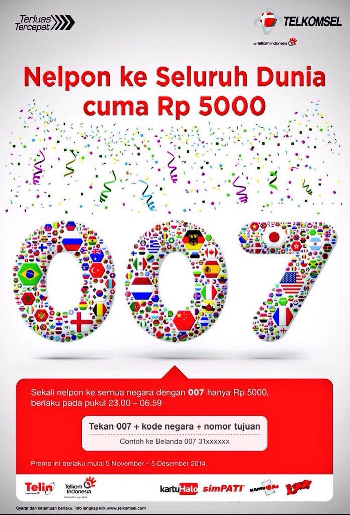 Promo Telkomsel Nelpon ke Luar Negeri Hanya Rp.5.000 Per 30   Menit
