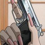Image for the Tweet beginning: アキュ・テック HC-380 香砂会の組長付ボディーガードが持っていて、バラライカに「やめだ。こんなひどい銃を恥ずかしげもなく持っている連中と共闘などできん。」と吐き捨てられた銃。事実、不具合が多い銃である。装弾数13発。