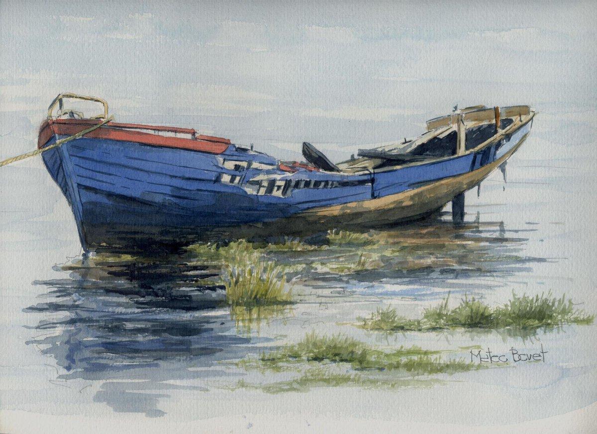 Resultado de imagen de barca vieja y pajaro