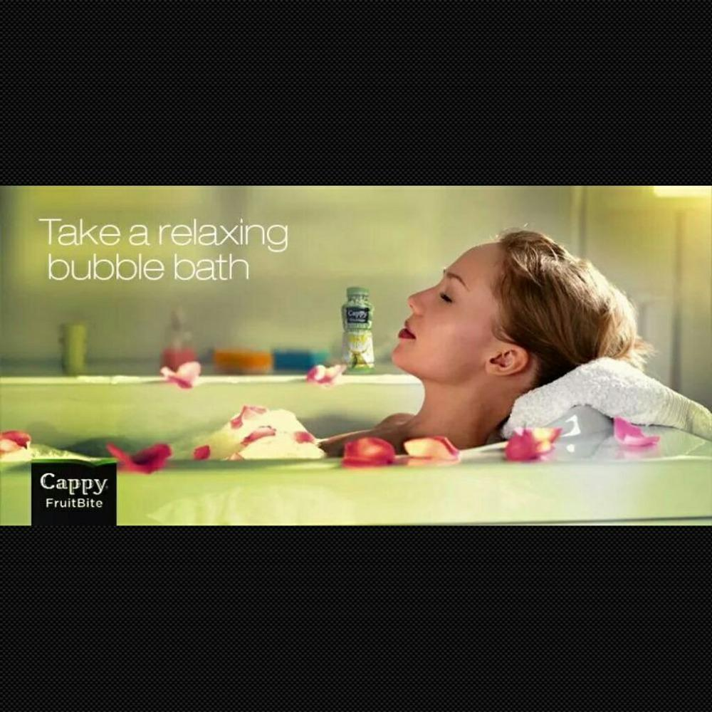 What do bubble baths & Cappy have in common? They put you in a great mood! :) #Cappy