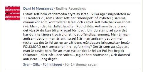 Dani M:s budskap bör även tolkas mot bakgrund av detta uttalande på AB Kulturs Facebooksida 2012: http://t.co/jSdS3g0Qfy