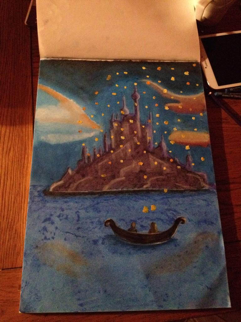A M Canvas Creations On Twitter New Drawing Oil Pastels Drawing Painting Of Disney Tangled Lantern Scene Disneystangled Http T Co Nqfkv8rzrt