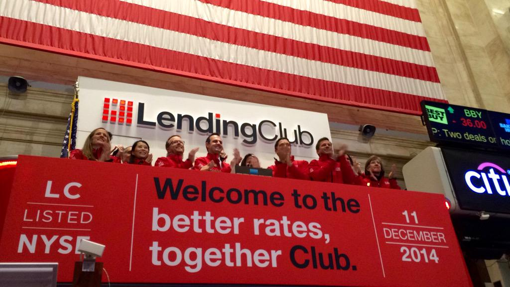 Ringing the opening bell @NYSE! #LendingClub #IPO  (prospectus.lc) http://t.co/MK7e4tre7A