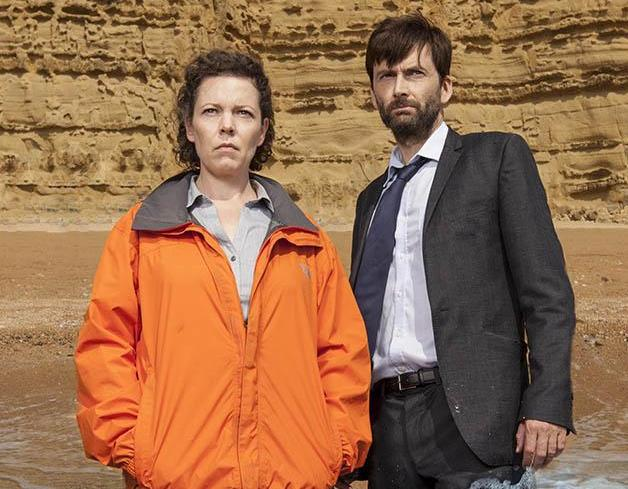 Broadchurch promo photo of David Tennant and Olivia Colman