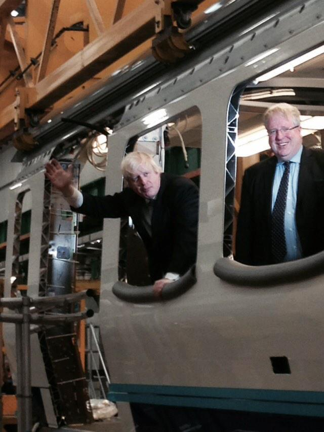 Today I visited @BombardierRail factory, Derby w/ Transport Sec Patrick Mcloughlin &saw tube carriage production 1/2 http://t.co/CtVddp6HHH