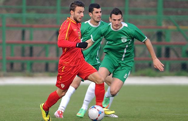 Pivkovski playing for Macedonia U21