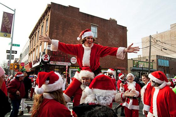 .@santacon We are happy to host #SantaCon at all #NYC locations this Saturday: http://t.co/hTRp3wXLkr {photo @NYMag} http://t.co/RVUEToOKGo