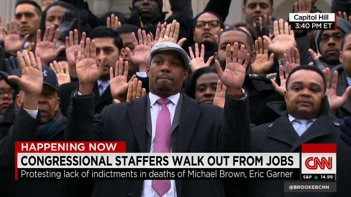 Congressional staffers walk out from jobs over Garner, Brown