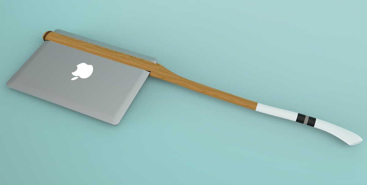 Please back my Kickstarter for the MacBook Axe, a hand-made artisanal handle that turns your MacBook Air into an axe. http://t.co/WY6aFXOgfE