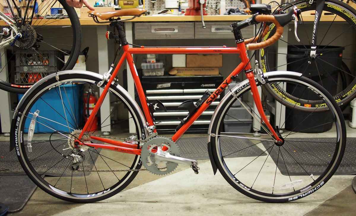 Woo, my #Surly Pacer is complete. http://t.co/4j4PWKK3iV