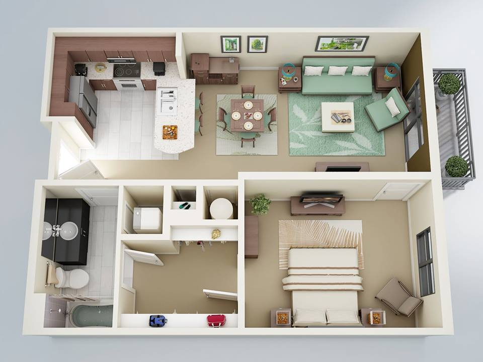 Architecture Design On Twitter 1 Bedroom Apartment