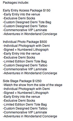 Demi Lovato News On Twitter Demi Lovato Vip Package Information For Australia New Zealand T Co Pvjlsxxcs