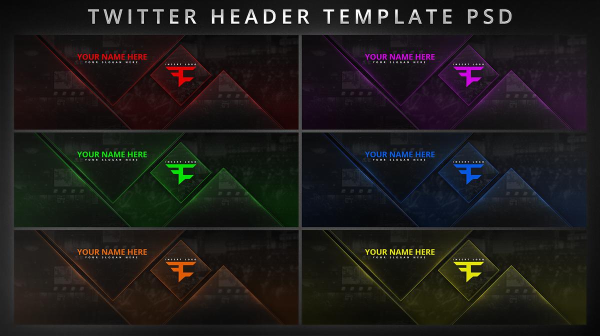 Header Psd Templates | Faze Nikan On Twitter Customizable Twitter Header Template Psd Is