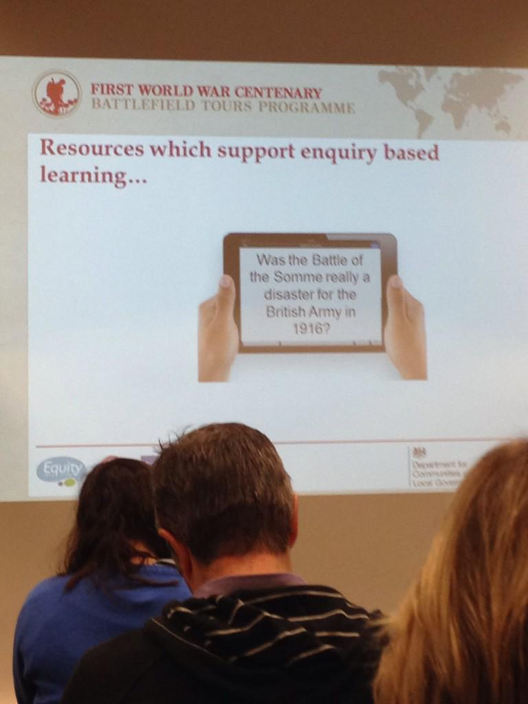 Simon Bendry @WWI_Education #DLFWW teachers want enquiry based learning! http://t.co/loRdLp2IOA