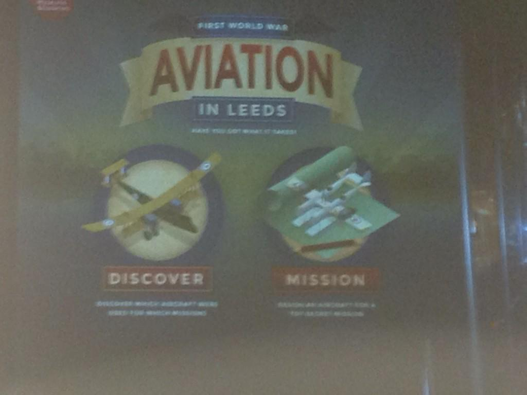 Lucy Moore @LeedsMuseums shows Aviation in Leeds interactive - try your hand at missions http://t.co/hUr4xeX50e
