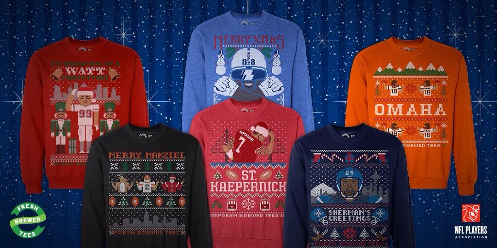 ugly nfl christmas sweaters freshbrewedtees