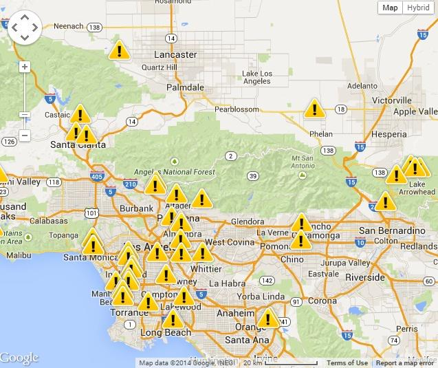 Wind Rain Pounds Socal A Slew Of Power Outages According To