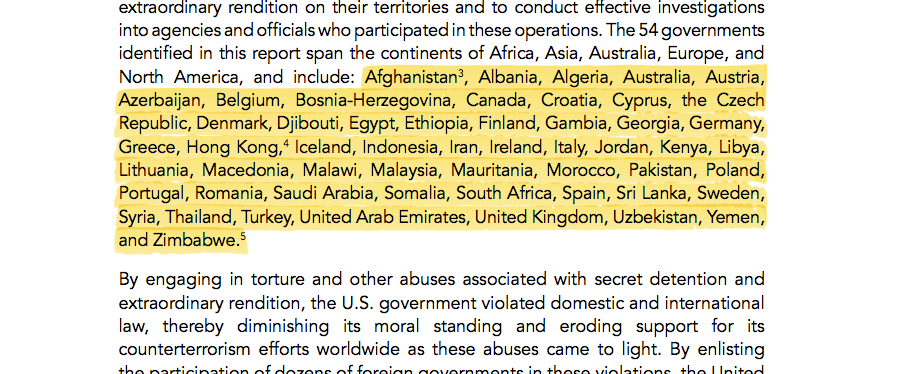 At least 54 countries supported CIA rendition and torture. http://t.co/LEPjDLfqJm #TortureReport http://t.co/5AhlRi5fZB