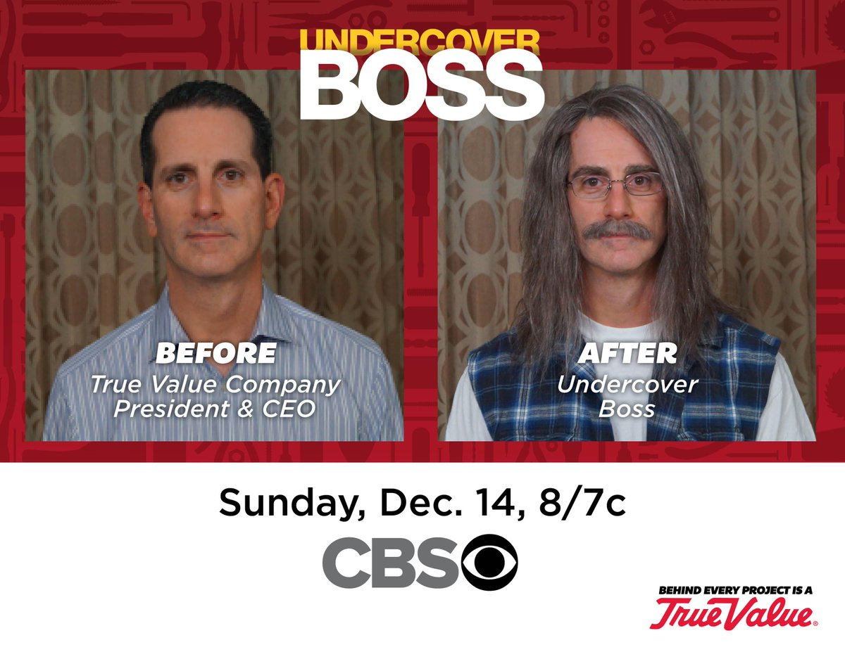 Our CEO will be on @Undercover_CBS tonight – tune in at 8 PM ET to watch him learn the #truevalue of his employees! http://t.co/NvB66ipLJ2