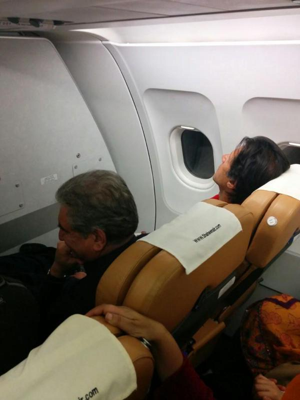 As you said Both faked.   http://t.co/kSStzntgBc  My Leader #IK on Shaheen Airways Khi to ISB  @SKamShah: @I_am_Bhutto    @omar_quraishi