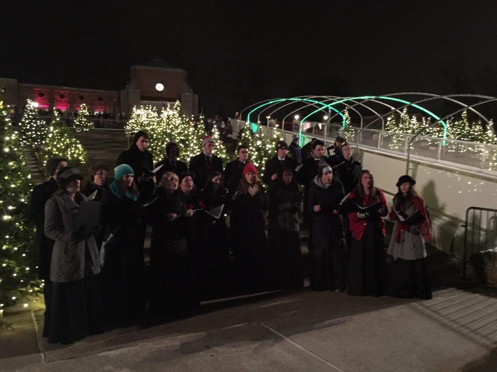 bgcs choirs on twitter madrigals caroling at the toledo zoos lights before christmas bobcatproud httptco8boqjxkkt8 - Toledo Zoo Lights Before Christmas