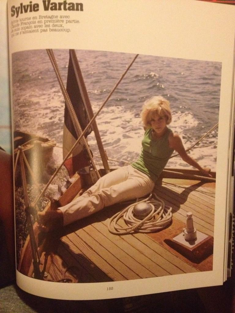 #Roger #Kasparian photo of #Sylvie #Vartan #sailing in the 60&#39;s !<br>http://pic.twitter.com/teYdA5noa3