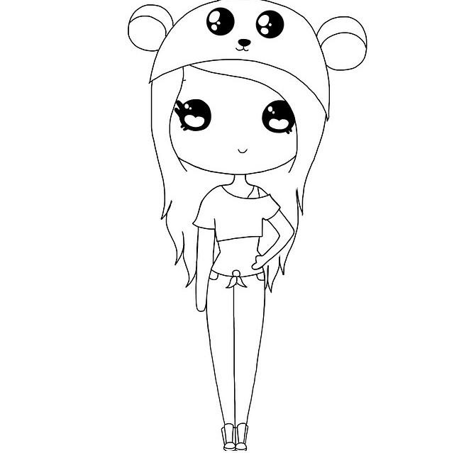 cute people coloring pages - photo#19