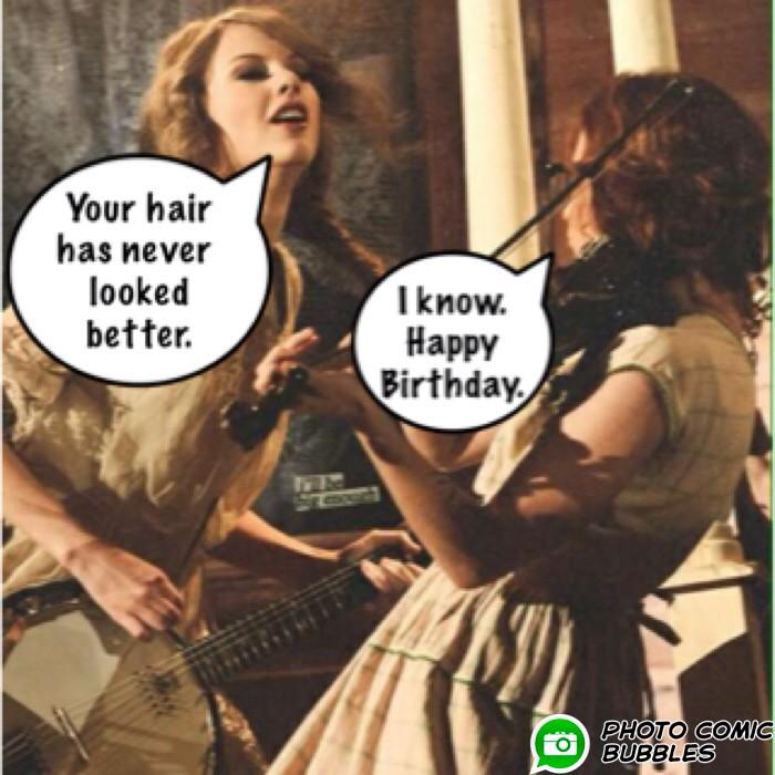 "Happy Birthday, @taylorswift13, my dearest friend.  And may we never go out of ""Style"". http://t.co/4UOtYpVT1U"