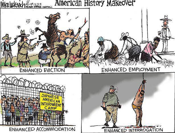 """@hdagres: American history makeover: History with the word ""Enhanced"" #TortureReport http://t.co/BI6eEzrK3M"" @Manar_Ammar"