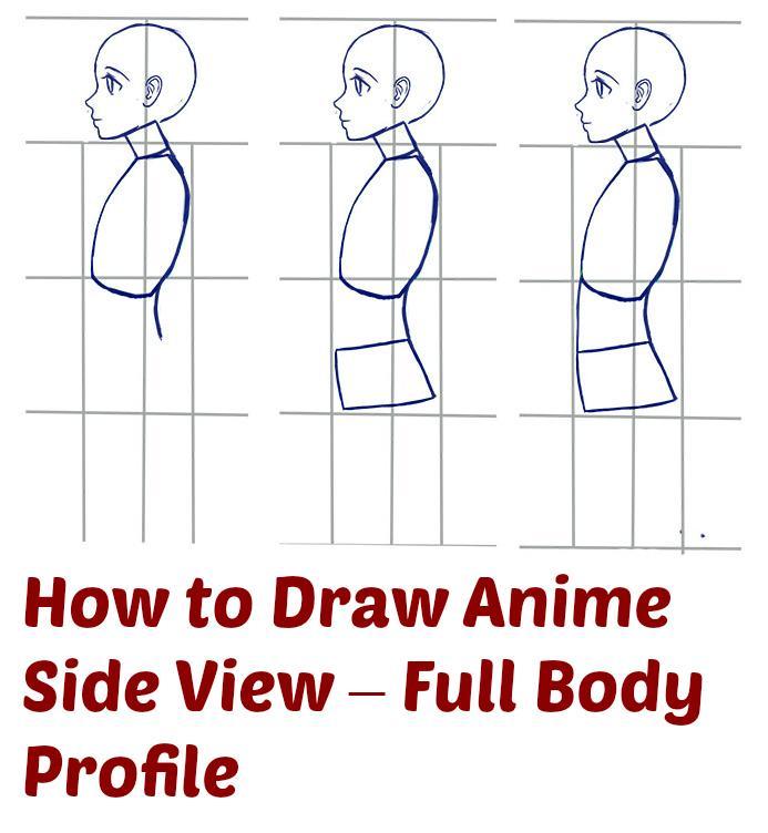 Julia On Twitter Easy Method For Drawing Female Anime Body Profile