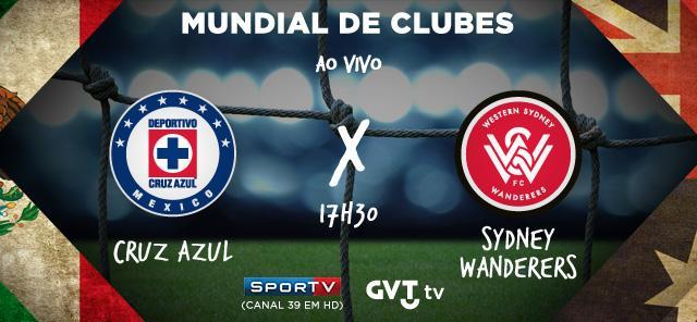 Hoje tem Cruz Azul (MEX) x Sidney Wanderers (AUS) AO VIVO, às 17h30, no @SporTV HD (39). http://t.co/T4tKunjyi5