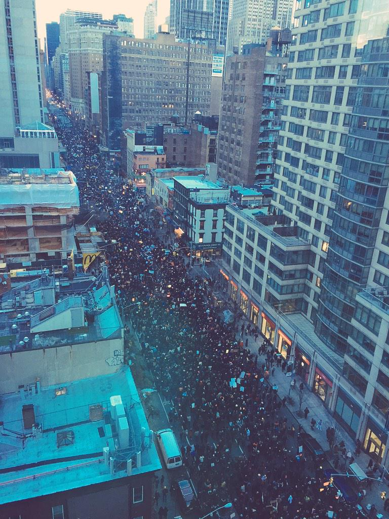 6th avenue completely overflowing #MillionsMarchNYC http://t.co/a8WqQ0lVxx