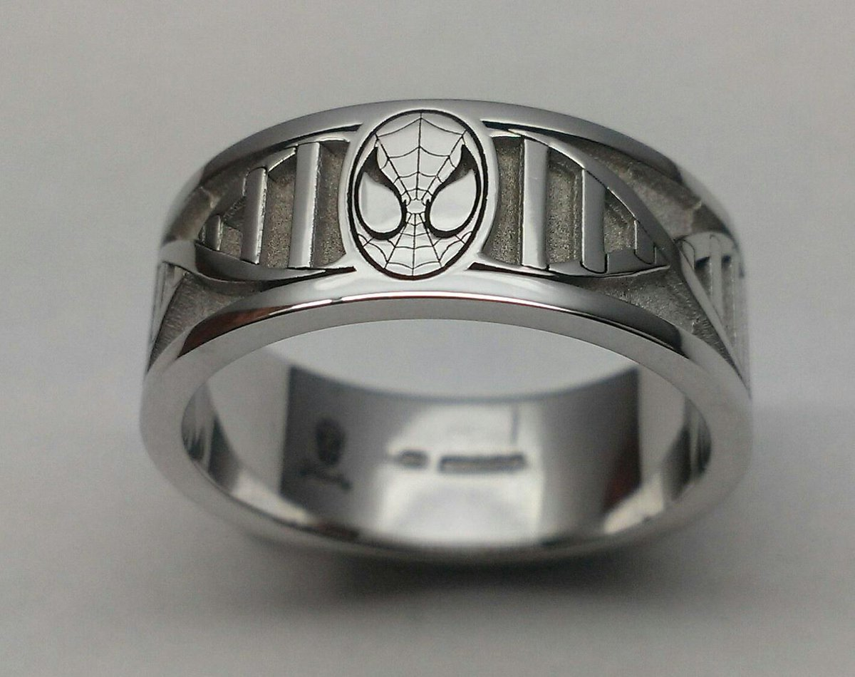 Tattoo Jewellery On Twitter Spiderman Dna 18ct White Gold Custom