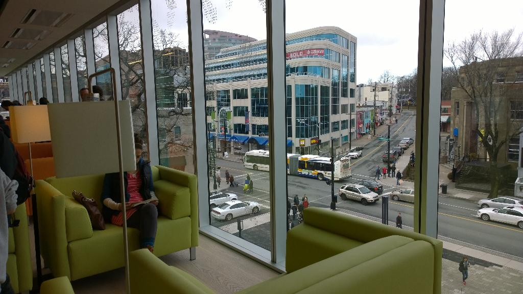 #SharetheWow indeed! The new @hfxpublib is outstanding - what a nice gathering place for downtown! http://t.co/9BvcHhSwUU