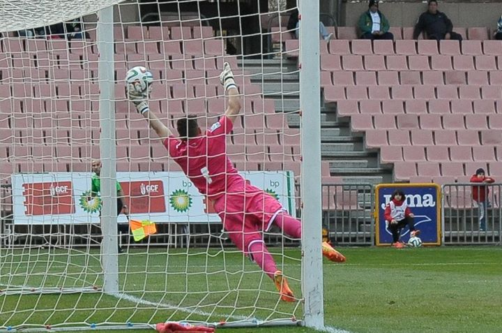 Dimitrievski makes a save for Granada B