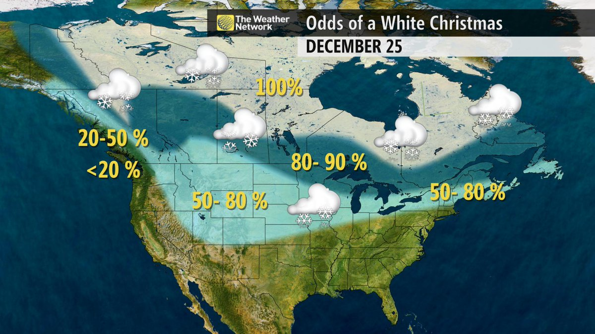 White Christmas In Canada.The Weather Network On Twitter Probability Of A White