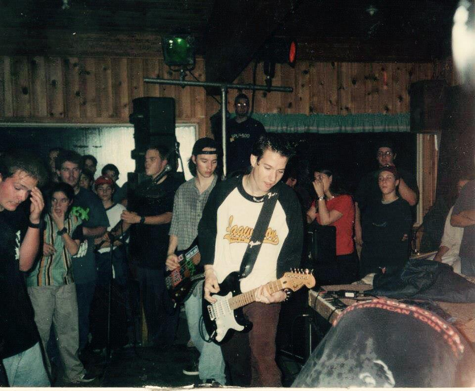 That's me playing in my first band when I was 15! My friend Christian just sent it to me I cannot believe this!#epic http://t.co/2END6FkXOo