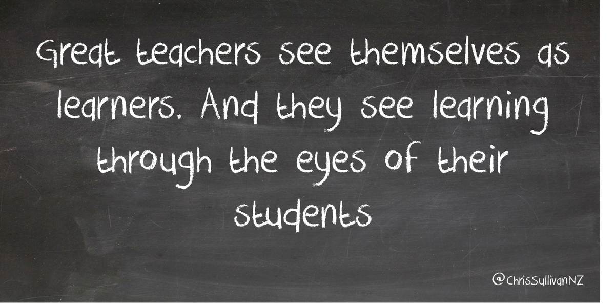 And colleagues AND PLN! How #GreatTeachers see themselves .. makers! via @ChrisSullivanNZ @VisibleLearning http://t.co/3thvGMoQQb #txeduchat