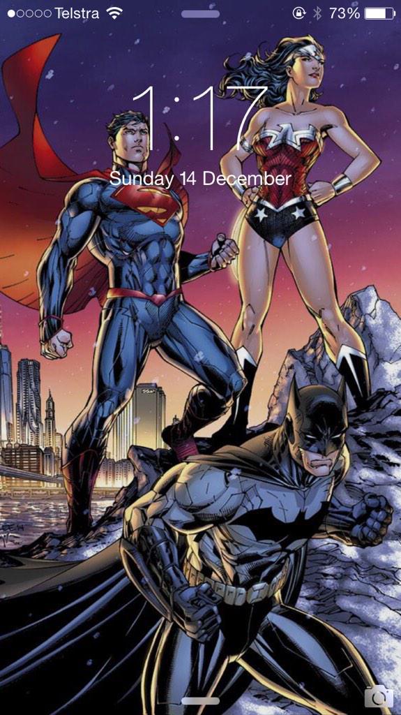 "Jim Lee on Twitter: ""Happy Holidays! #wonderwoman #superman #batman #trinity #nyc #dccomics #scottwilliams @sinccolor #new52 http://t.co/ZpcVlPvJ0c"""