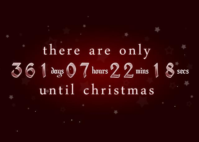 hollis wong wear on twitter cranegeronimo countdown begins dimmak 361 more days until christmas cantwait httptcof72sktjdjf - How Many More Days Until Christmas 2014