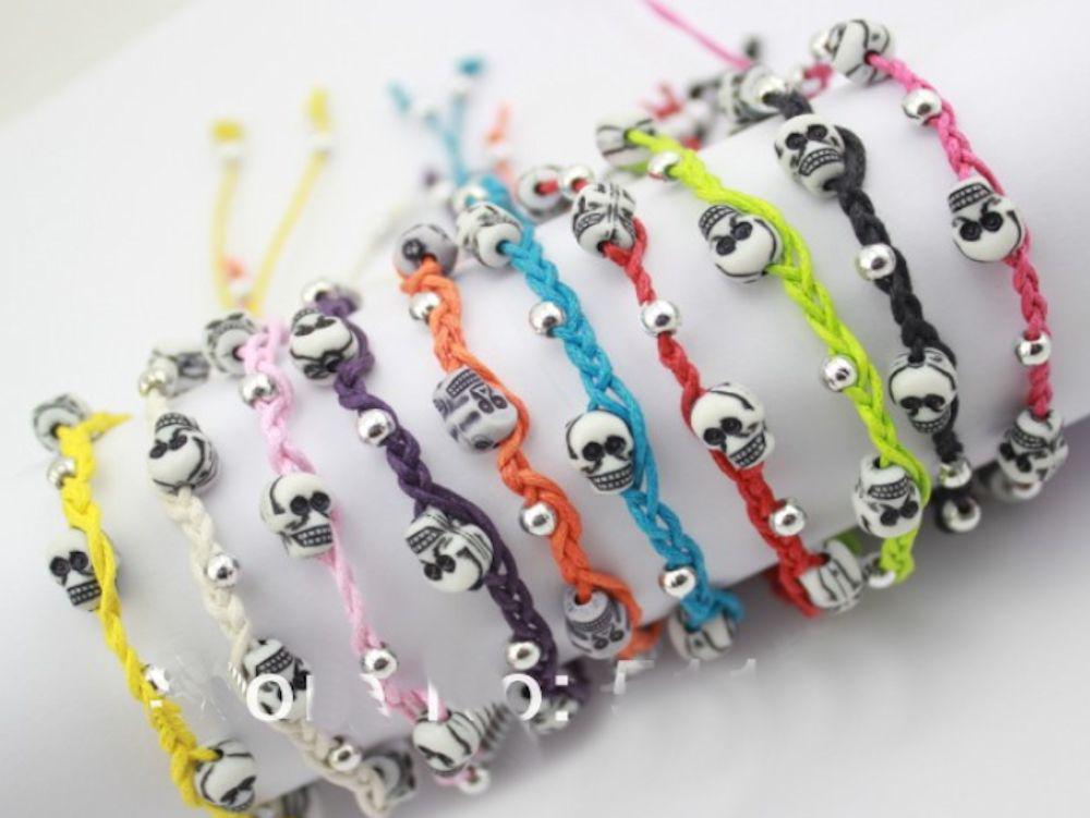 colourful resin skull bracelets     #gift #gadget #Jewellery #beauty #tools